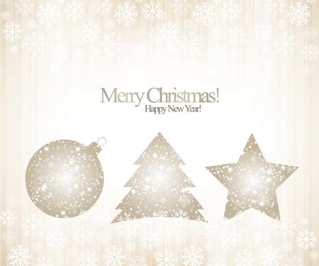 Christmas & New Year. Vector greeting card Stock Vector - 10940351