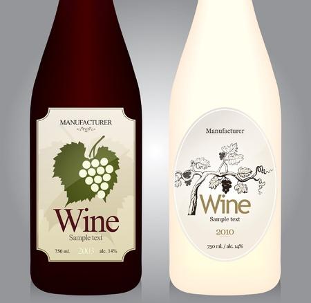 Wine label design  Stock Vector - 10940327
