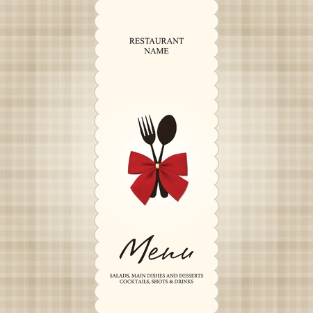 cover menu: Vector. Restaurant or cafe menu design