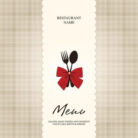 meny: Vector. Restaurang eller Café menydesign