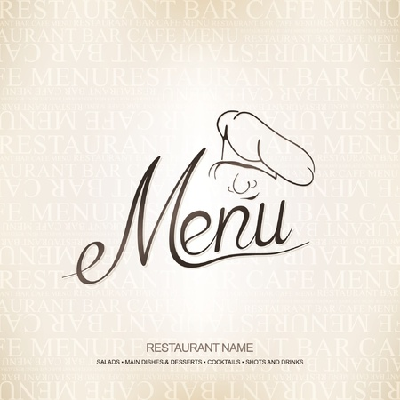 Vector. Restaurant menu design  Vector