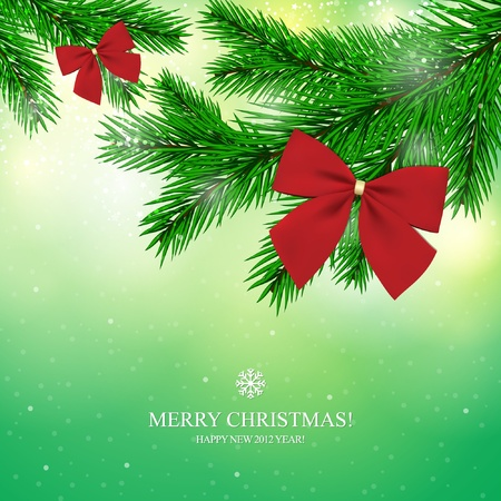 Christmas and New Year. Vector greeting card  Stock Vector - 10940344