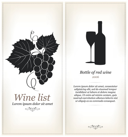 bottle screw: Wine label design