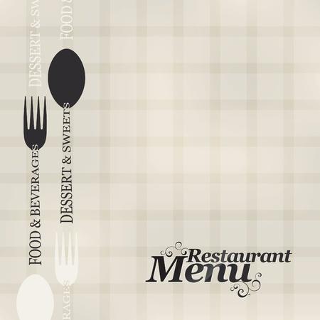 carta de postres: Vector. Dise�o de men� de restaurante