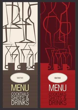 bar menu: Restaurant, cafe or bar, menu design  Illustration