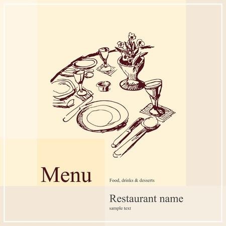 restaurant dining: Restaurant menu