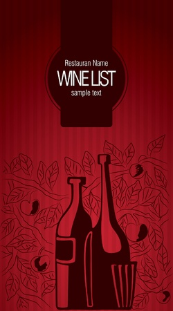 Wine list design Stock Vector - 11023742