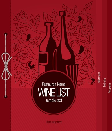 menu card design: Wine list design