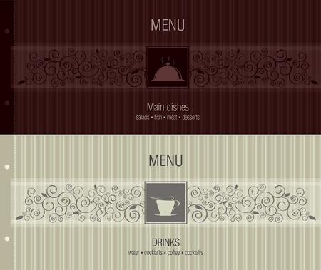 menu card design: Restaurant menu