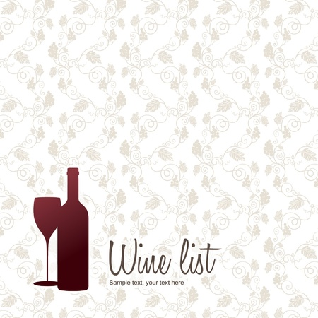 Wine list design Stock Vector - 11023773