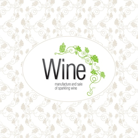 clip art wine: Wine list design Illustration