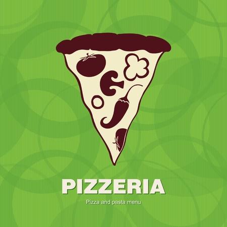 pizza slice: Cover design the menu for pizzeria