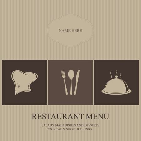 Restaurant-Menü Vektorgrafik