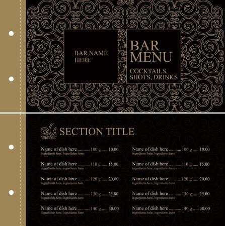 Bar menu Stock Vector - 11023750