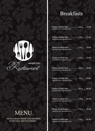 carta de postres: Men� de restaurante