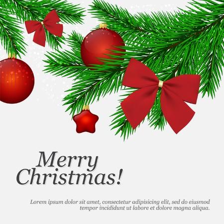 vector greeting card: Christmas and New Year. Vector greeting card