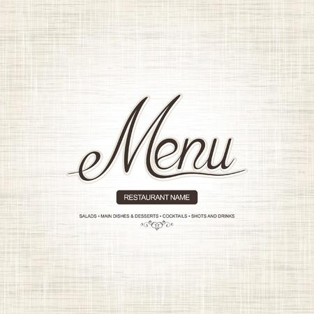 restaurante: Projeto do menu do restaurante