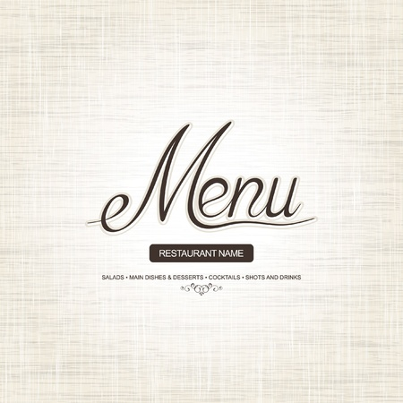 cover menu: Restaurant menu design  Illustration