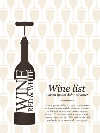 bouteille de vin: Conception de carte des vins
