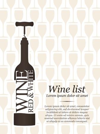 bottle of wine: Wine list design