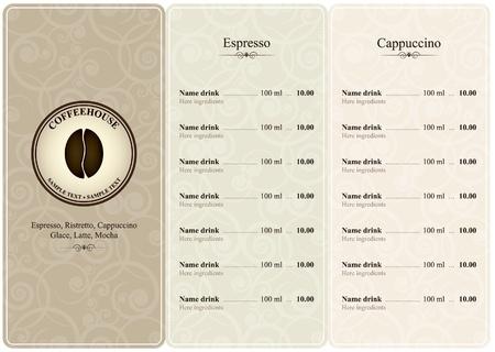 carta de postres: Menú para restaurante, cafetería, bar, cafetería Vectores