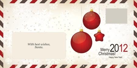 weihnachten: Air mail envelope, Christmas design. C6-C5 format