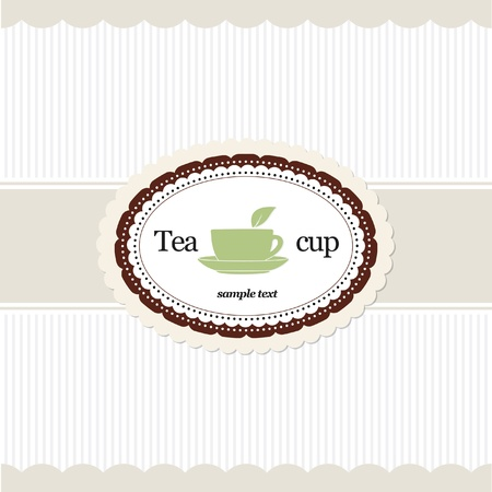Tea time. Restaurant menu design Stock Vector - 11539245