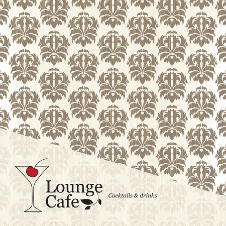 Menu lounge cafe  Vector