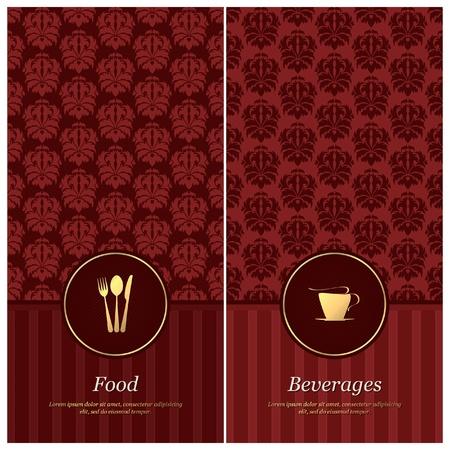 carta de postres: Vector. El diseño del menú del restaurante