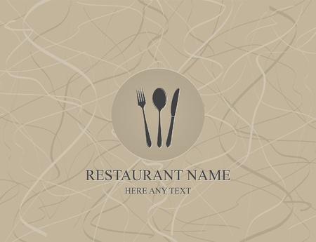 menu de postres: Vector. Restaurante de dise�o de men�
