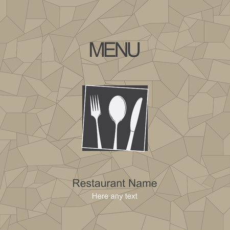 food label: Restaurant menu design. Vector