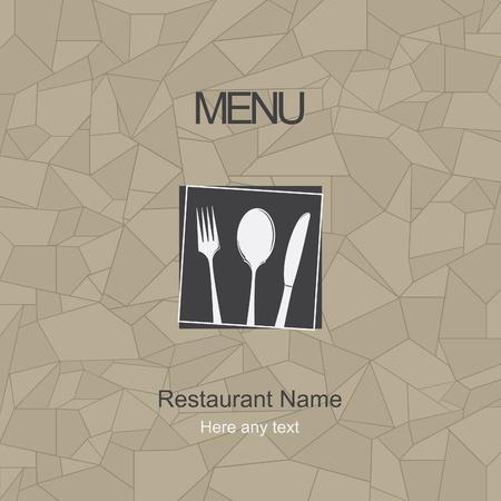 negocios comida: Restaurante de dise�o del men�. Vector