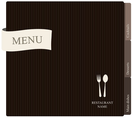 cover menu: Vector. Restaurant menu design