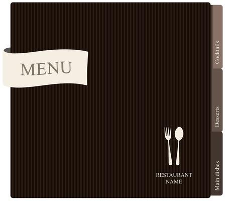 carta de postres: Vector. Restaurante de dise�o de men�