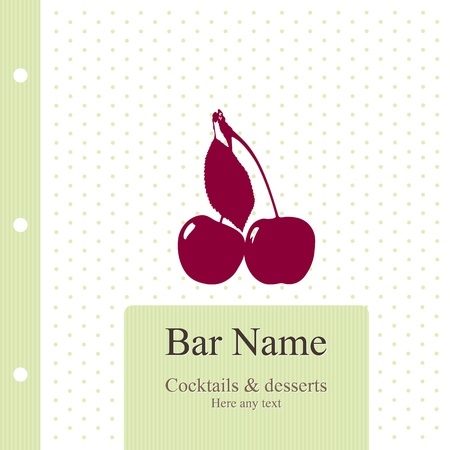 Vector. Bar menu design.  Stock Vector - 11659384