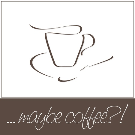 Coffee cup. Design for coffee house.  Vector