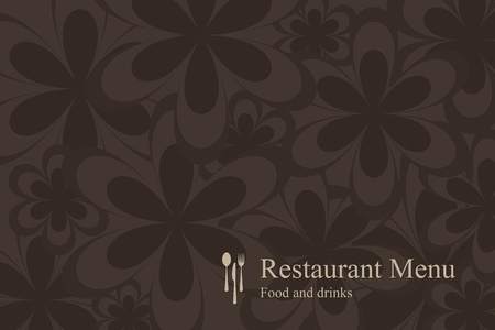 Concept design restaurant menu on flowers background  Vector