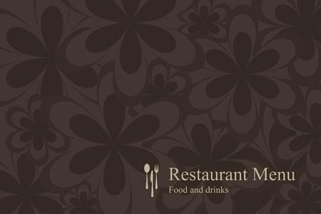 menu card design: Concept design restaurant menu on flowers background