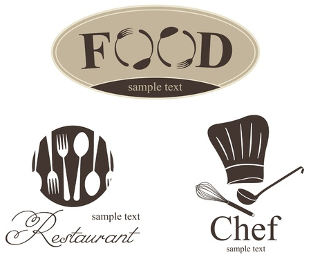 Label set for restaurant, cafe and bar  Vector