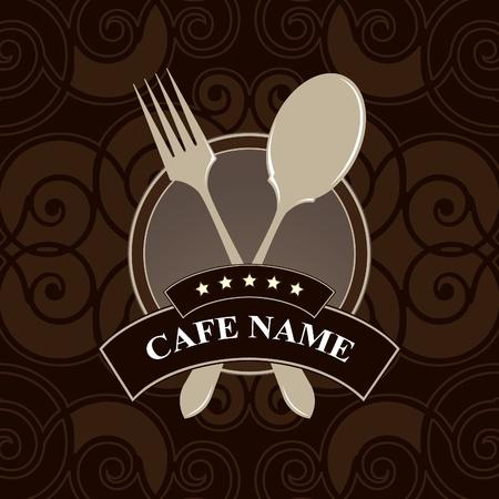 Vector. Cafe menu, cover design. Stock Vector - 11659404