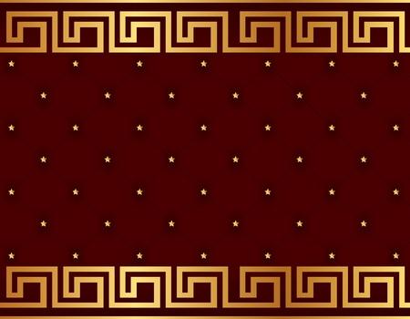 Vector. Seamless glamour damask wallpaper