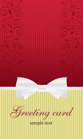 Elegant design greeting card, maybe birthday or wedding  Vector