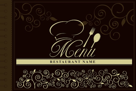 Design an elegant menu & label  Stock Vector - 11659414