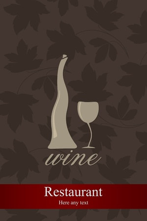 Wine list design  Stock Vector - 11659406