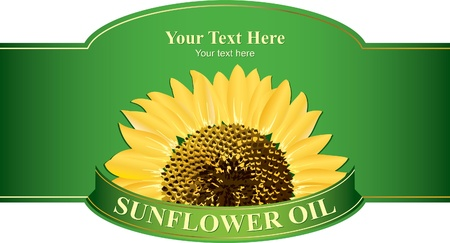 sunflower oil: Design labels sunflower oil, or any other product from sunflower