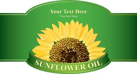 zonnebloem: Designlabels zonnebloemolie, of enig ander product uit zonnebloem