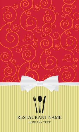 Design an elegant menu & label Stock Vector - 11659385