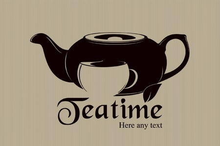 Vector. Teatime label design  Vector