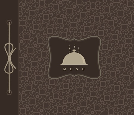 Restaurant menu concept design. Dark  Vector