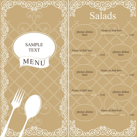 Restaurant menu design concept Stock Vector - 11659369